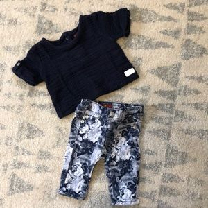 Baby girl jean and top set
